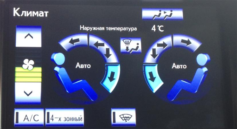 Адаптация климат контроля в Lexus LX 570 USA