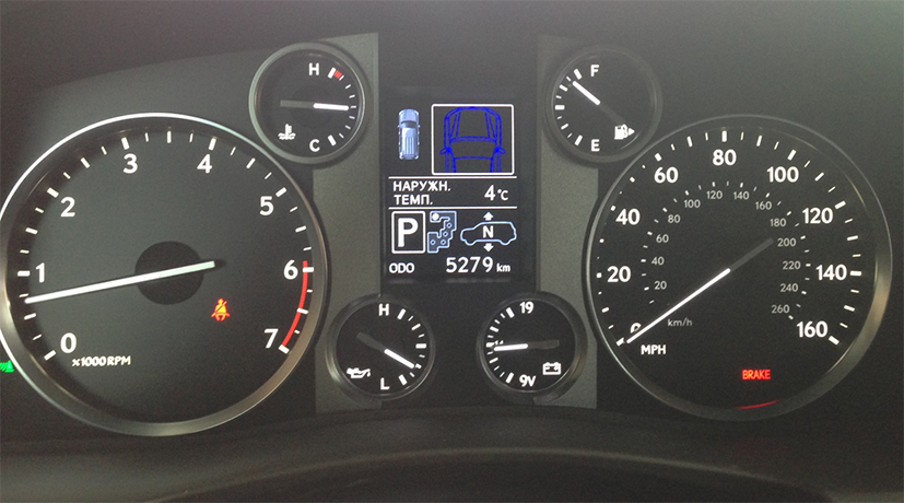 Мили в километры на Lexus